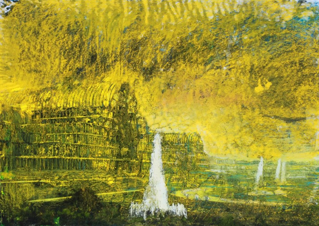 CRYSTAL PALACE - 41.5x59cm. - pastel on paper
